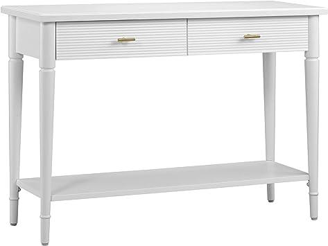 Amazon Brand Ravenna Home Classic Console Table 42 W White Furniture Decor