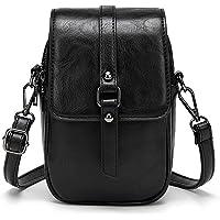 Myfriday Women Vintage Crossbody Phone Bag, Small Messenger Shoulder Bag Cash Handbag Wallet Purse with Earphone Hole