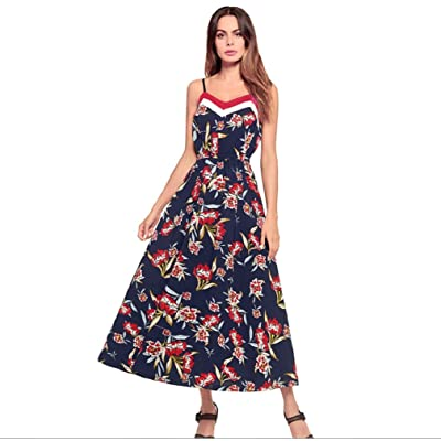 ZHANGM Mesdames Backing Beach jupe longue robe en mousseline de soie sexy