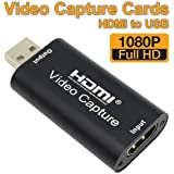 MavisLink Audio Video Capture Cards HDMI to USB 1080p USB2.0 Record via DSLR Camcorder Action Cam for High Definition Acquisition, Live Broadcasting
