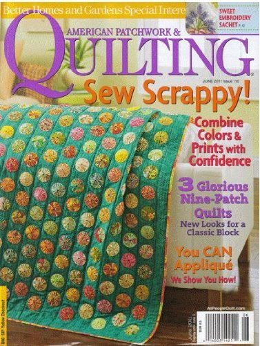 Better Homes & Gardens American Patchwork & Quilting June 2011 - BONUS GIFT - Special Super Star Wall Hanging