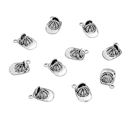10PCs Pendants Firefighters Hat Old Silvery 17x11mm Beads & Jewellelry Making Supplies Jewellery Making Charms & Pendants