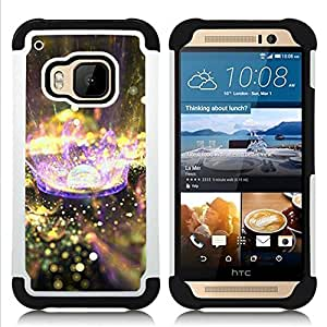 - planet drop rain purple nature/ H??brido 3in1 Deluxe Impreso duro Soft Alto Impacto caja de la armadura Defender - SHIMIN CAO - For HTC ONE M9