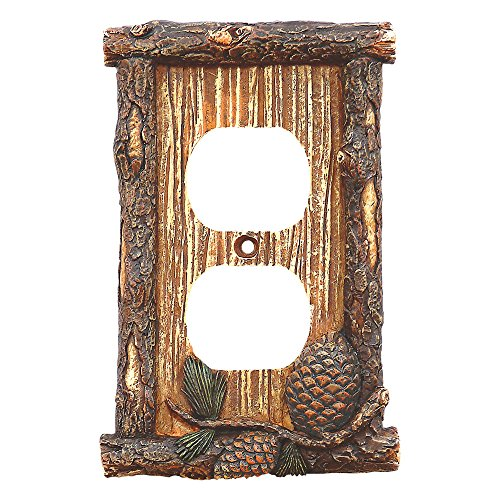 Pinecone & Twig Outlet Cover