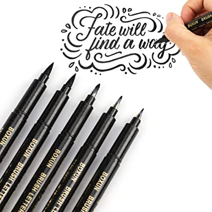 amazon com calligraphy brush pen for hand lettering 4 size 5