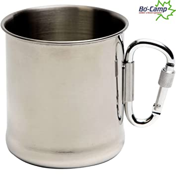 Taza de acero inoxidable con mosquetón de acero del mango, 7 ...