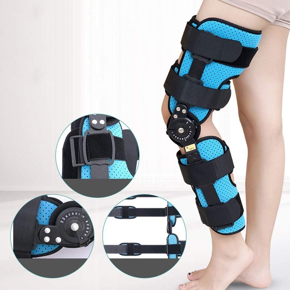 QLT BETY Soporte de articulación de Rodilla Soporte de extremidad Inferior Ajustable Entrenador de rehabilitación de menisco de húmero Fractura de Rodilla Fija