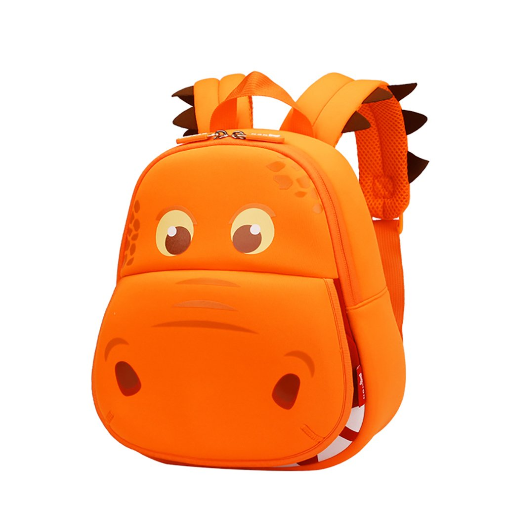 JlRqY Kids 3dバックパック – waterprool旅行ショルダーバッグ – Cute Animalバックパック1 – 5歳の古い子供の幼稚園スクールバッグ B07FL18KJB オレンジ