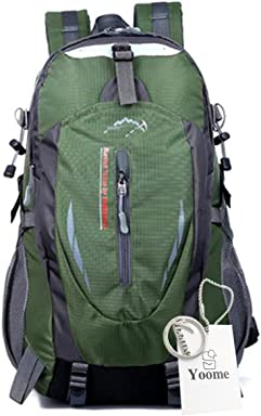 88fa47f0c2 Yoome Hiking Backpack 40L Weekend Pack Waterproof Rain Cover   Laptop  Compartment - for Camping