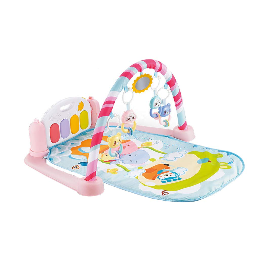 CreazyBee 5 in 1 Baby Light Musical Gym Play Mat Lay & Play Fitness Fun Piano Boy Girl (Pink)
