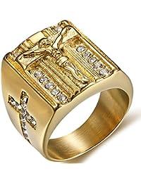 Stainless Steel Christian Jesus Cross Ring