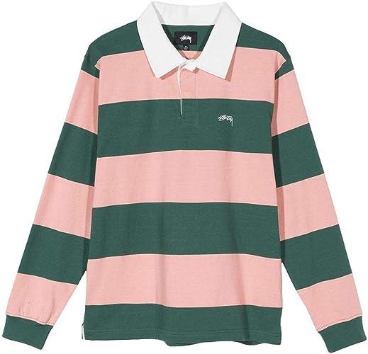Polo STUSSY Ralphie Stirpe Rugby Peach M Rosa: Amazon.es: Zapatos ...