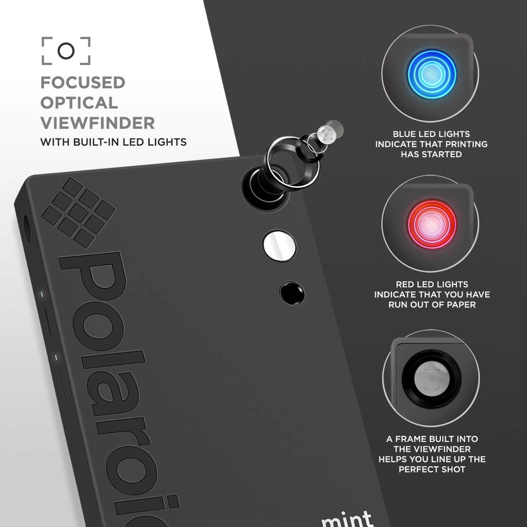 Polaroid Mint Instant Digital Camera (Black) Art Bundle + Paper (20 Sheets) + 8x8 Cloth Scrapbook + Pouch + 12 Twin Tip Markers + 100 Border Stickers + 6 Decorative Scissors + Washi Tape by Polaroid (Image #7)