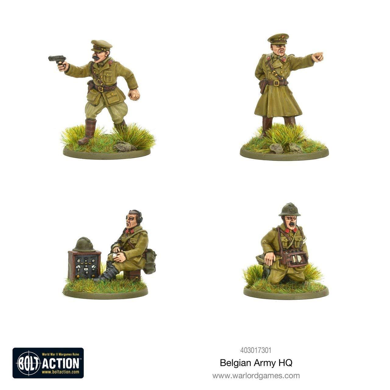 Warlord Games ボルトアクション ベルギー陸軍 HQ B07KF6C28B