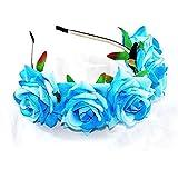 Damen Mädchen Rose Blume Haarreif Blumenstirnband Garland Festival Hochzeit Braut Brautjungfer Haarband Kopfband Kranz