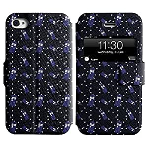 AADes Scratchproof PU Leather Flip Stand Case Apple iPhone 4 / 4S ( Many Doors )