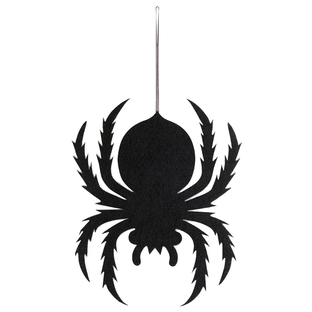 Slendima 15.79'' x 12.40'' x 0.12'' 1PC Spider Non-Woven Hanging Sign Halloween Spooky Wall Door Trick Prop Party Decor Spider
