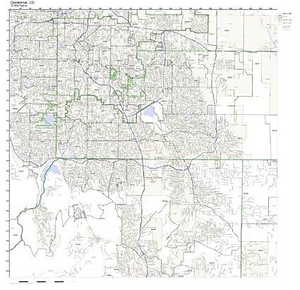 Centennial Colorado Zip Code Map.Amazon Com Centennial Co Zip Code Map Not Laminated Home Kitchen