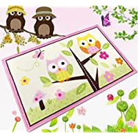 Kids Room Owl Rug Pink Girls Rug For Living Room Delicate...