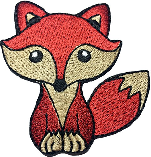 Papapatch Cute Wolf Fox Cartoon DIY Sewing on Iron on Embroidered Applique Patch (Iron On Patches Appliques)