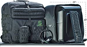 GTR Backpack - Carry Your PC Tower, Gaming Gear, Consoles & More - Great for LANs and BYOCs