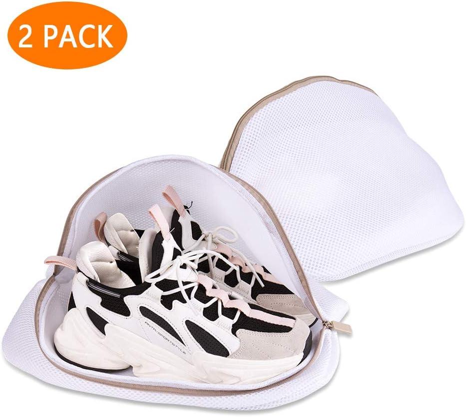 Hotott Saco Lavadora para Zapatos, Bolsas Premium de Malla de Lavandería Zapatos de Deporte para Lavadora con Cremallera Duradera, Bolsa de Lavado de Alta protección para Almacenamiento y Viaje
