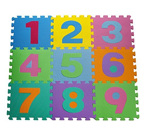 HemingWeigh Kid's MulticolGoldt Numbers by Puzzle Play Mat by Numbers HemingWeigh 4a9174