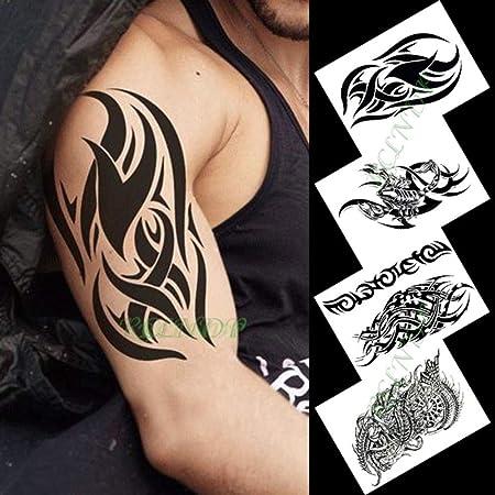tzxdbh Etiqueta engomada del Tatuaje Temporal Impermeable ...