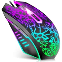 VersionTECH. Gaming Mouse, Souris Ergonomic Wired Gaming Mice with 7 Colors LED Backlight, 4 DPI Settings Up to 3600 DPI…