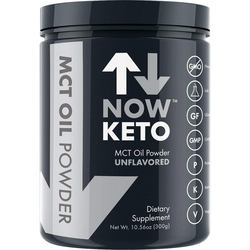 NOW KETO® Keto MCT Oil Powder from Coconuts | Low Carb High Fat | Medium Chain Triglyceride | Ketogenic Diet Supplement | Activates Ketosis & Boosts Ketones for Keto Diet. Keto Coffee Creamer. by NOW KETO