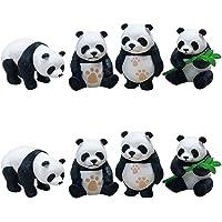 SUPVOX 8 Unids Mini Oso Panda Figuras Lindo Cake Toppers Decoración Miniaturas de Animales Oficina Decoración del Hogar Jardines DIY Paisaje