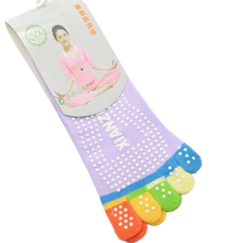 MochoHome 5-Toe Yoga/Pilates Socks with Full Grip, Small/Medium