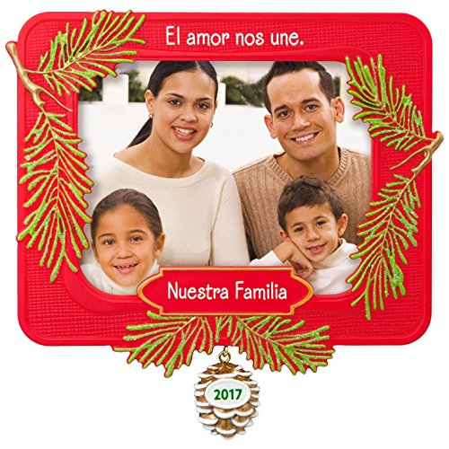 Hallmark Keepsake 2017 Nuestra Familia Picture Frame Dated Christmas Ornament (Ornament Frames Christmas)