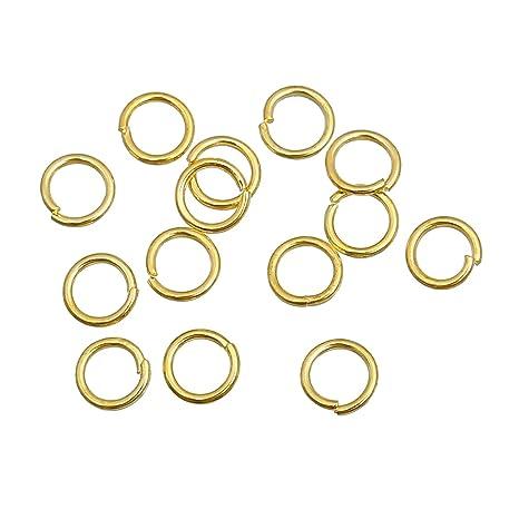 2a1f28a313f0 The Bead and Button Box 600 argollas abiertas en tono dorado. 5 mm. Objetos