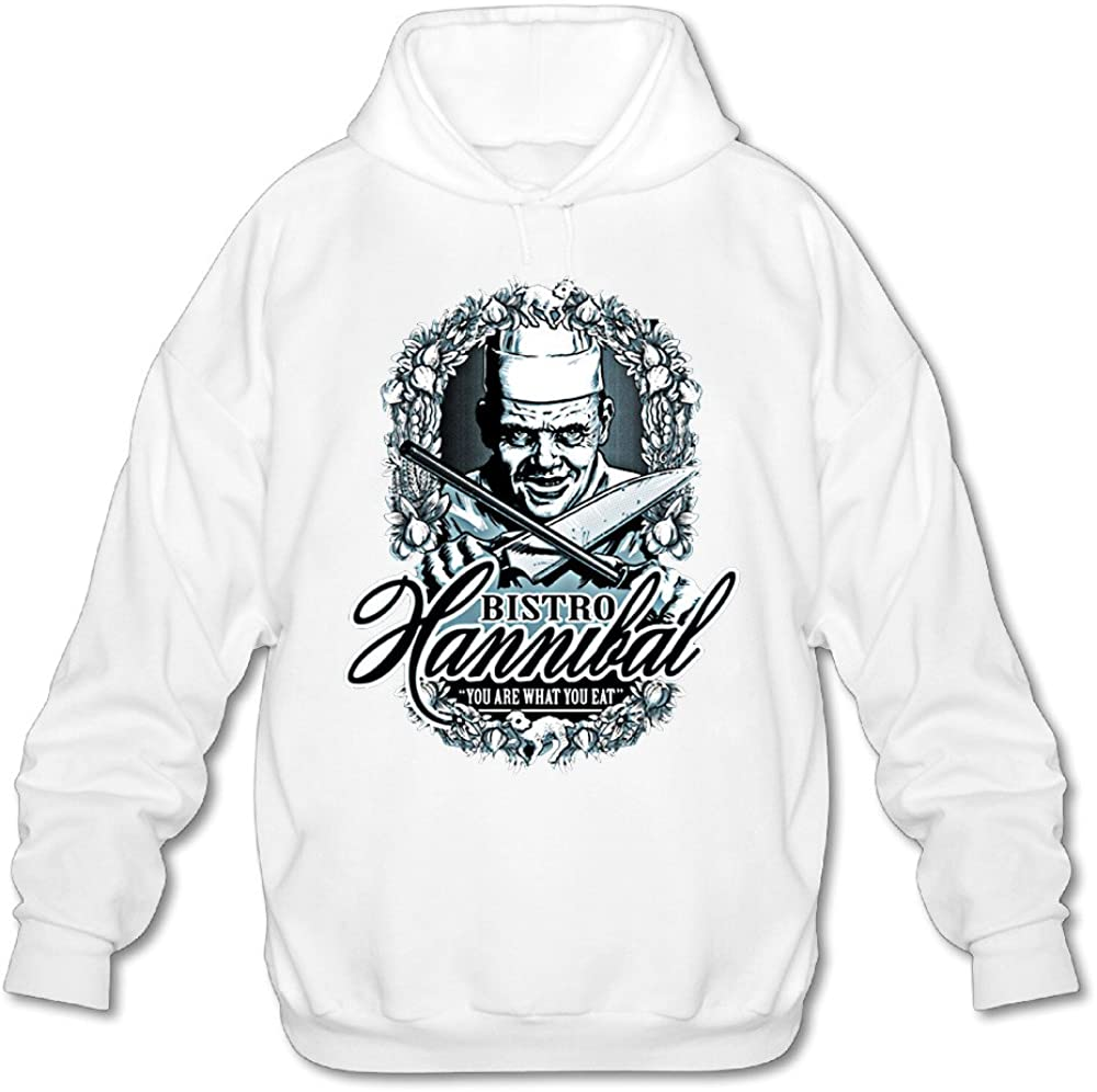 SAMMOI Hannibal's Bistro Men's Sport Hooded Sweatshirt White