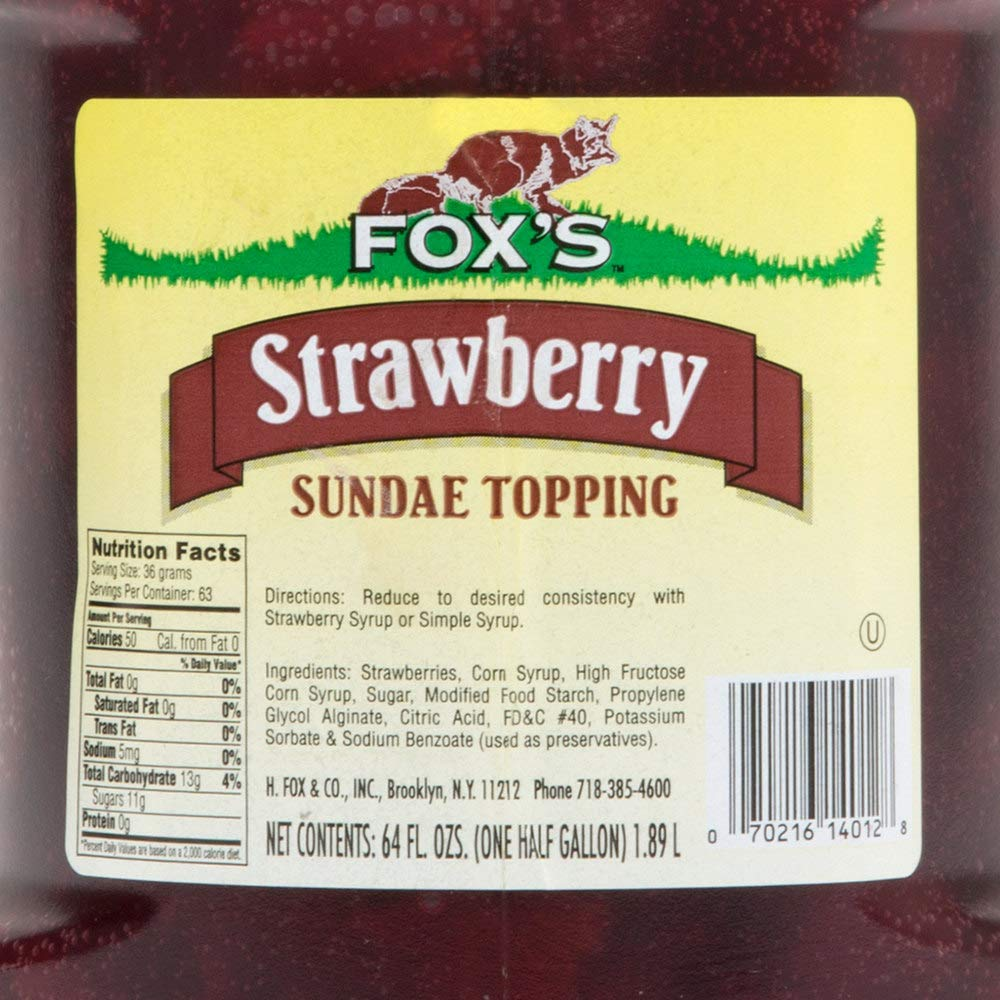 TableTop King 1/2 Gallon Strawberry Ice Cream Sundae Topping - 6/Case by TableTop King (Image #3)