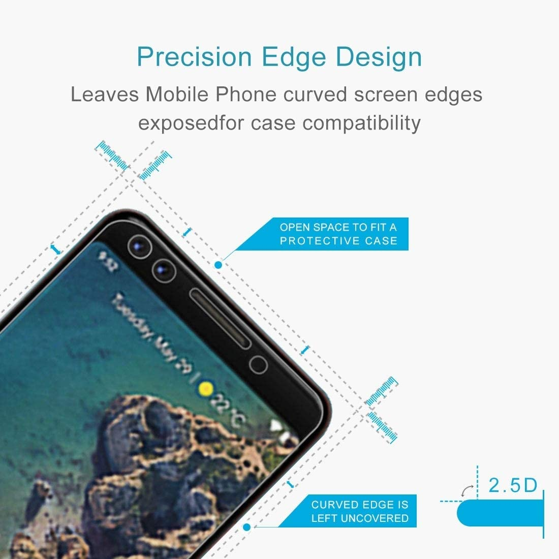 Glass Screen Protector 100 PCS 9H 2.5D Tempered Glass Film for Google Pixel 3