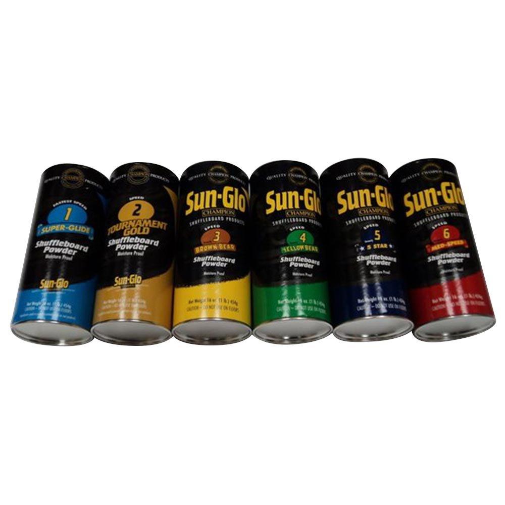 Sun-Glo Ultimate Variety Shuffleboard Powder Wax 6 Pack by Sun-Glo