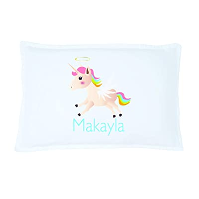 Personalized Kid's Unicorn Pillowcase Microfiber Polyester Standard 20 by 30 Inches, Custom Unicorn Pillow Cover, Personalized Pillow with Names, Personalized Gifts for Kids, Pillowcase for Girls: Home & Kitchen