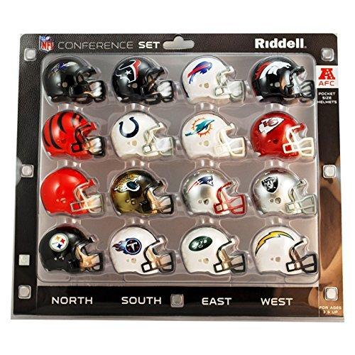 NFL AFC Conference Pocket Size Helmet Set (16-Piece)
