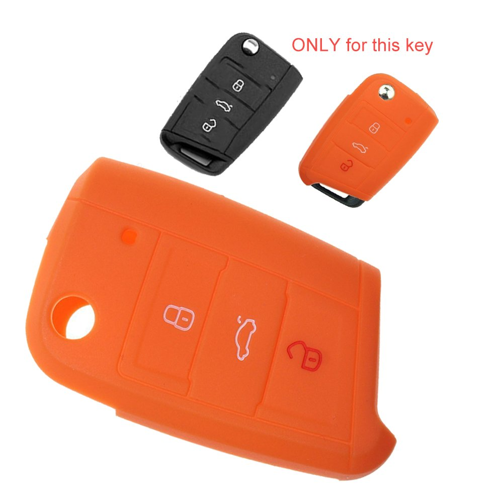 Silicona Key Cover Case Carcasa Seat Llave de llave fija ...