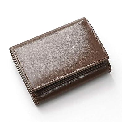 239ea1d46bba Amazon | [ Beamz Square ] 水牛革 コンパクト 三つ折り財布 レディース ...