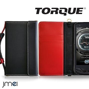 3e81c7a486 TORQUE G02 ケース 本革 JMEIオリジナルレザー手帳ケース CHARON ブラック au エーユー トルク 京セラ