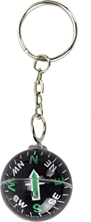 Portable Keychain Compass Hiking Carabiner Compass Outdoor Camping Ring CompPTH