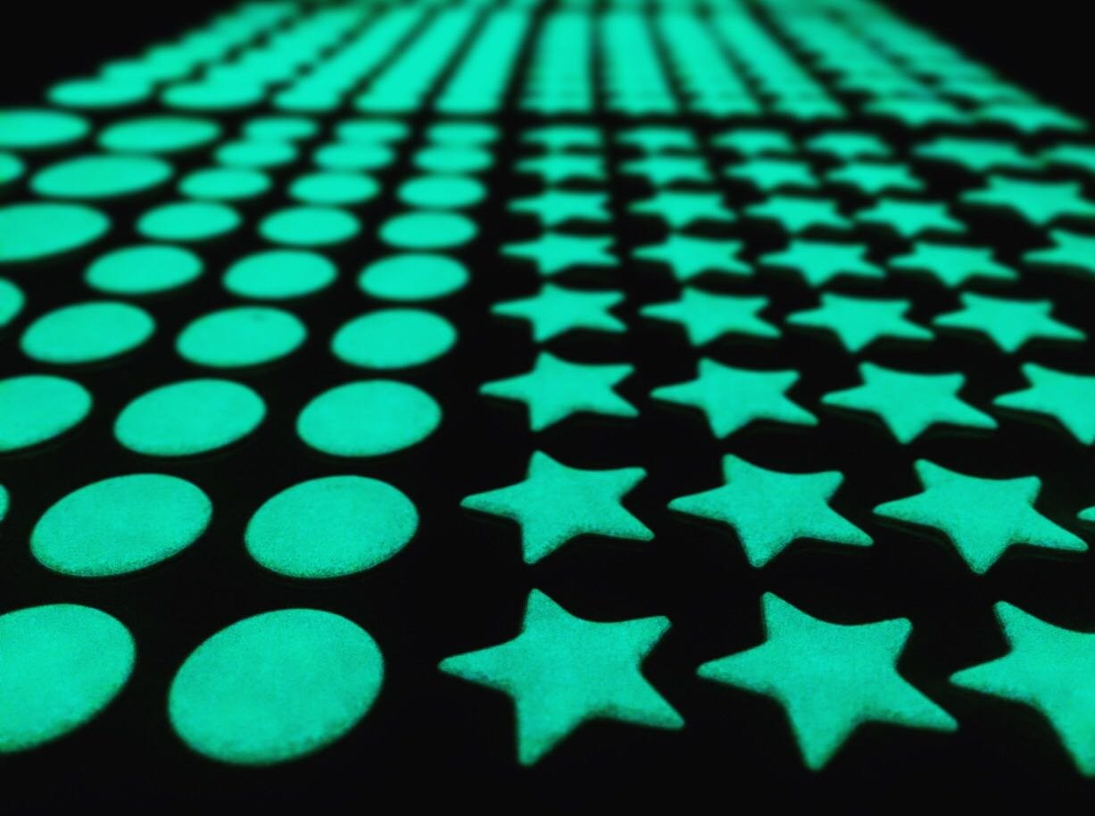 New Glow In The Dark Stars And Dots 332 3d Wall Stickers