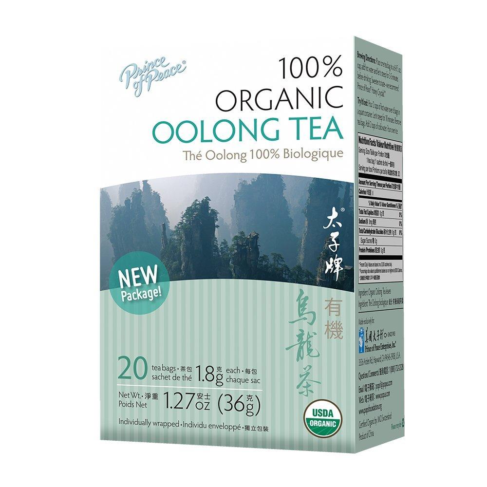 Organic Oolong Tea Prince Of Peace 20 Tea Bags. 1.27 oz, Pack of 20
