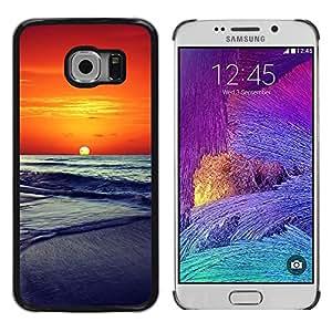 For Samsung Galaxy S6 EDGE - Sunset Beautiful Nature 86 /Caja protectora de pl???¡¯????stico duro de la cubierta Dise???¡¯???¡Ào Slim Fit/ - Super Marley