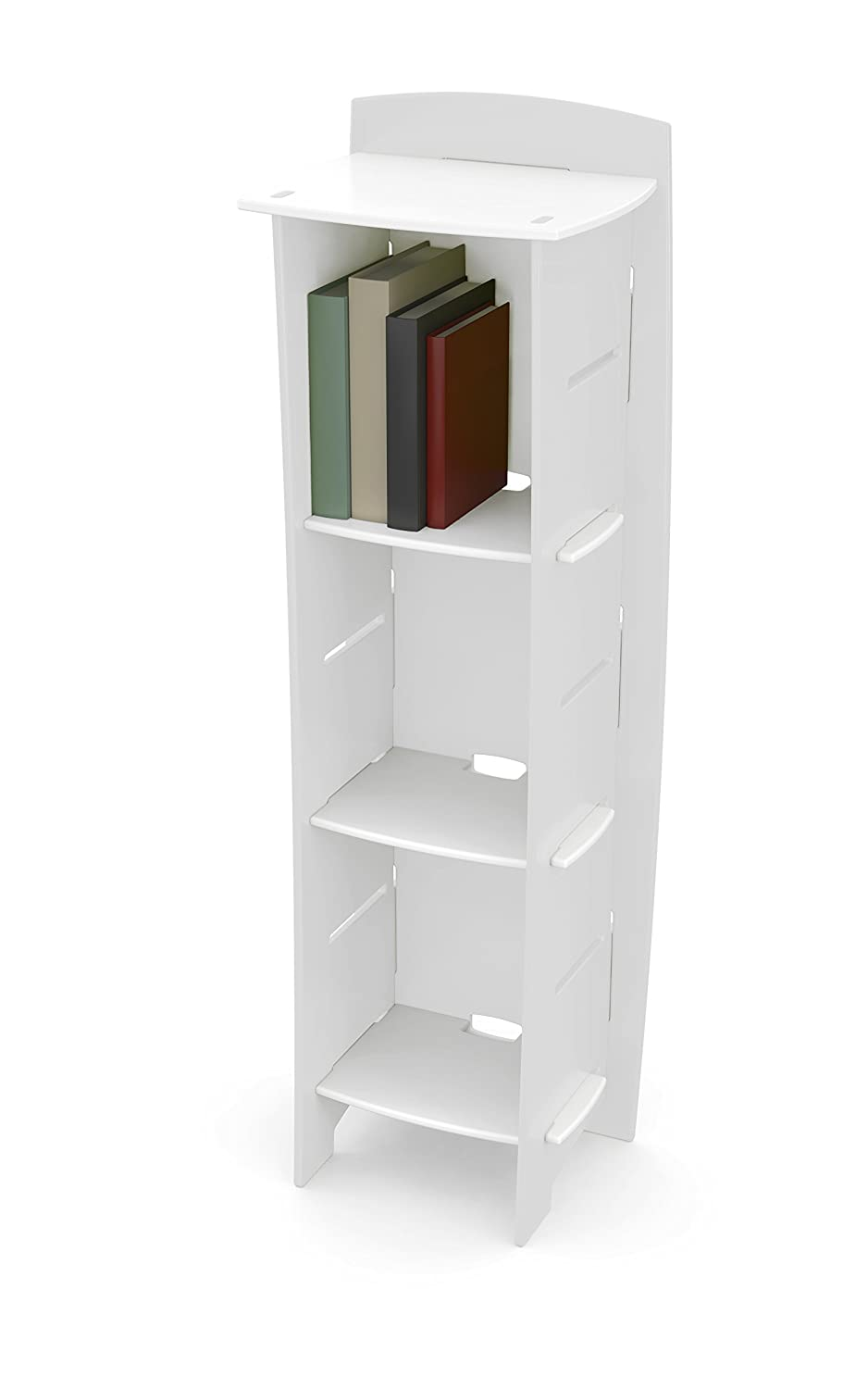 White Legare Furniture Race Car Adjustable 3-Shelf Bookcase, Red