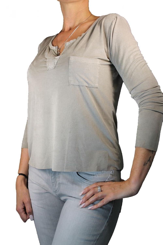 Funky Staff Damen Shirt langarm beige