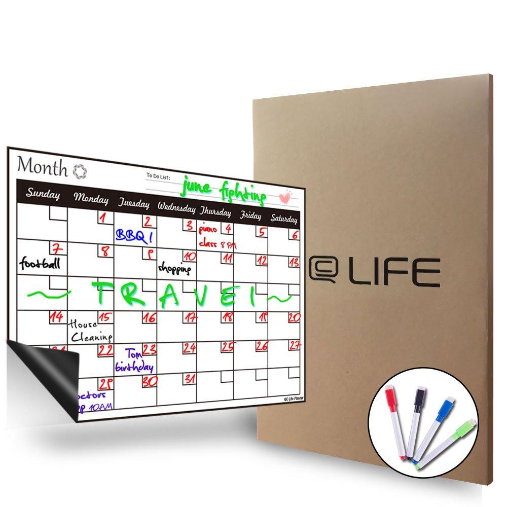 Pizarra blanca magnética de borrado en seco, con calendario ...